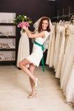 Jeune mariée de Funy Photographie stock libre de droits