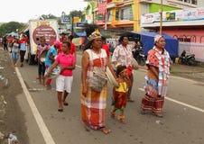 Jeune mariée de Papuan sur l'art et le festival culturel 2017 Image libre de droits