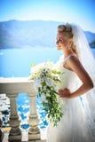 Jeune mariée de sourire Image libre de droits