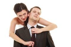 Jeune mariée dominante avec le mari Photos stock