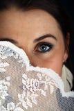 Jeune mariée effrayée photographie stock
