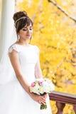 Jeune mariée en automne photographie stock libre de droits