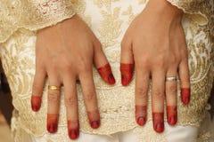 Jeune mariée en henné. Image libre de droits
