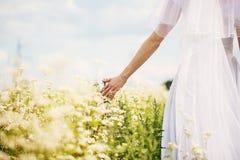 Jeune mariée en nature Image stock