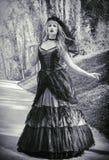 Jeune mariée gothique avec le voile photos stock