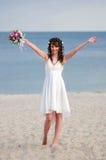 Jeune mariée heureuse Photographie stock