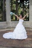 Jeune mariée heureuse Image stock