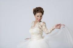 Jeune mariée joyeuse Images stock