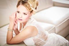 Jeune mariée magnifique son jour du mariage Image libre de droits