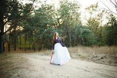 Jeune mariée mignonne dans le style américain Photo libre de droits