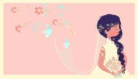 Jeune mariée moderne Images libres de droits