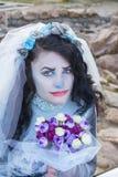 Jeune mariée morte Photos stock