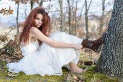 Jeune mariée peu conventionnelle Photos stock