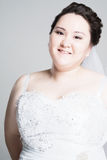 Jeune mariée plus de taille Images stock