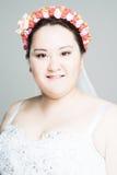 Jeune mariée plus de taille Image stock