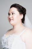 Jeune mariée plus de taille Image libre de droits