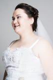 Jeune mariée plus de taille Photos stock