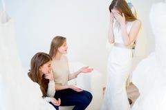 Jeune mariée sous l'effort Photo libre de droits