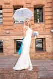 Jeune mariée sur la nature Photographie stock libre de droits