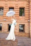 Jeune mariée sur la nature Images libres de droits
