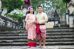 Jeune mariage au public Photographie stock