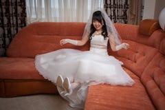Jeune mariée assez asiatique Photographie stock libre de droits