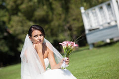 Jeune mariée malheureuse Images libres de droits