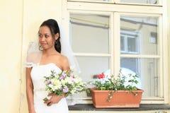 Jeune mariée sur le mariage Images libres de droits
