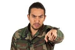 Jeune militaire hispanique Photo stock