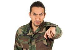 Jeune militaire hispanique Image stock