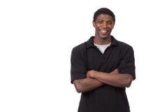 Jeune mâle d'Afro-américain Photographie stock libre de droits