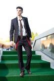Jeune modèle beau de mâle de mode Photographie stock