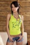 Jeune modèle de brunet Photographie stock libre de droits