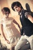 Jeune mode de couples Photos libres de droits