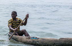 Jeune pêcheur Photographie stock