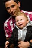 Jeune papa avec le fils Images libres de droits
