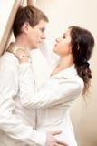 Jeune passion de couples Photographie stock libre de droits