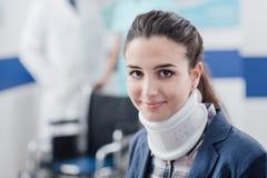 Jeune patient à l'hôpital image stock