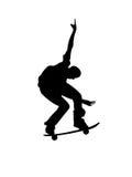 Jeune patineur sur la planche à roulettes illustration stock