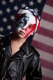 Jeune patriote américain Photographie stock