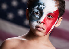 Jeune patriote américain Photographie stock libre de droits