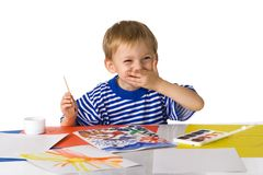 Jeune peintre Images libres de droits