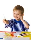 Jeune peintre Photos stock