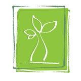 Jeune petite plante de centrale Illustration Libre de Droits