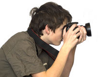 Jeune photographe photo stock