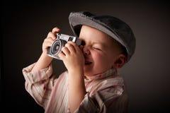 Jeune photographe de presse Photographie stock libre de droits