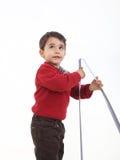 Jeune pièce de garçon avec le mètre Image stock
