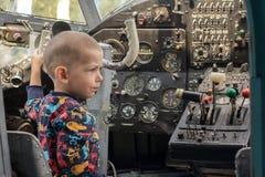 Jeune pilote Photo stock