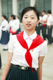 Jeune pionnier coréen du nord photo libre de droits