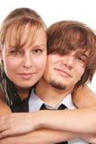 Jeune plan rapproché attrayant de couples Photos libres de droits